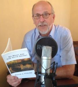 David Figura recording his audio book